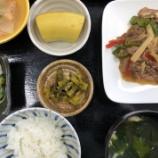 『今日の桜町昼食(青椒肉絲)』の画像