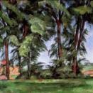 セザンヌの風景画 ノルマンディーの農場、夏 ジャス・ド・ブッファンの高い木々 コートールド美術館展