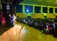 岡部麟が石岡第二高等学校の文化発表会にサプライズで出演!