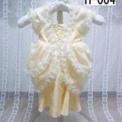 イエローのクラシックベビードレス1500円 H-004