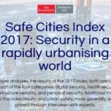 『イギリスのEIUが安全な都市ランキングを発表。世界一は東京。ではマニラは?』の画像