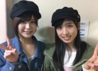 小栗有以と佐藤栞が高橋朱里のミュージカルと3期生公演を観に行く