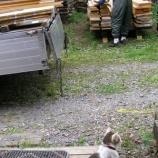『材木が届く・看板』の画像