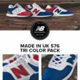 『New Balance Made in UK 576 「TRI COLOR PACK」登場』の画像