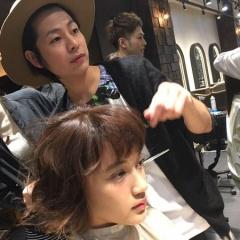 ミンクス銀座カットも上手ですがヘアメイクも上手(^^)前髪の分け目にもこだわりあり!