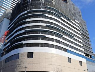 地上24階、高さ125m「豊洲ベイサイドクロスタワーB棟」の建設状況(2020.1.11)