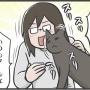 PECO更新のお知らせ/娘のベッドで酷い顔でくつろぐ猫たち写真