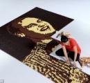 16,074個チョコで作ったウィリアム王子の肖像画が凄い!