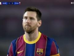 【画像】バルサのメッシさん、PSG戦の試合中に目が死んでしまうw