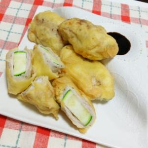 ズッキーニと豚肉のフリッター