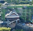 熊本城の塀が壊れたって