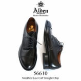 『入荷 | ALDEN (オールデン) 56610 モディファイド カーフストレートチップ 【ブラック】』の画像