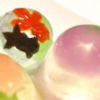 『【頂き物】涼し気な、金魚や朝顔の羊羹が浮かぶゼリー♡』の画像