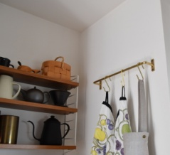 PR◇キッチンに真鍮のタオルハンガー付けました!Before & After