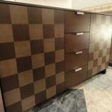 『【一・三惚れ市】 住賓館オリジナル市松仕様のサイドボード最終完成』の画像