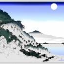 広重 近江八景 石山秋月