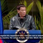 【動画】フィリピン、ドゥテルテ大統領が国連特別報告者の批判に「地獄に落ちろ!」 [海外]