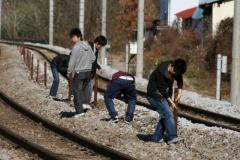 【動画あり】 線路に侵入して草刈りをする鉄ヲタ