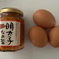 KALDIの明太子なめ茸卵焼きとウィンナーで夫弁当【レシピあり】