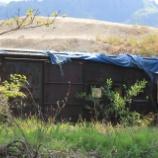 『放置貨車 ワフ29500形車番不明車①』の画像
