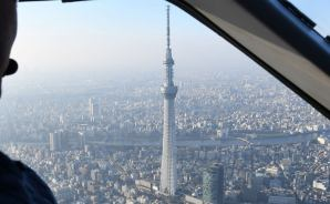 プライベート機で東京上空を