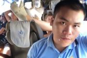 タイ旅行中の白人女性、バスの中で臭い足を前の座席の上に投げ出す迷惑行為 タイ人に注意されるも無視し睨む