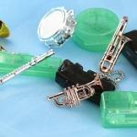 キラキラメッキの楽器のガチャストラップシリーズに新作が登場!「キラメッキ楽器#7」