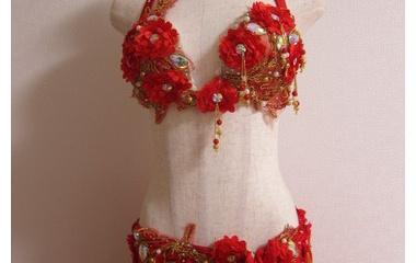 『ベリーダンス衣装 「ここを隠したい…」時、装飾の移動じゃなくて新たに作っちゃうことも出来ます!』の画像