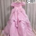 小花ドレープ子供ドレス ピンク(7歳)SOLDOUT