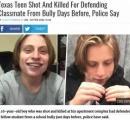 いじめっ子から同級生を守った少年 いじめていた側の少年に銃殺される