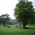 秋霖の法体園地お籠もりキャンプ【1】雨の設営