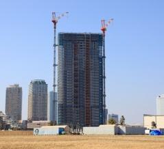 千葉県内最高層タワーマンション!地上48階「幕張ベイパーク スカイグランドタワー」の建設状況(2020.1.13)