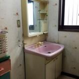 『京都府京田辺市 洗面化粧台水漏れ -洗面台交換工事-』の画像