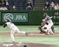 【阪神】サンズが判定に切れたストライクの画像