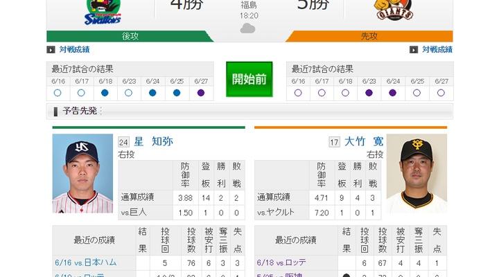 【 巨人実況!】vsヤクルト!先発は大竹!18:20~