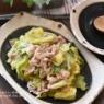 【レシピ・主菜・作り置き】フライパンで5分!豚バラと春キャベツのやわらか煮