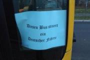 【ドイツ】 運転するバスに差別を仄めかす言葉を書いた運転士が解雇