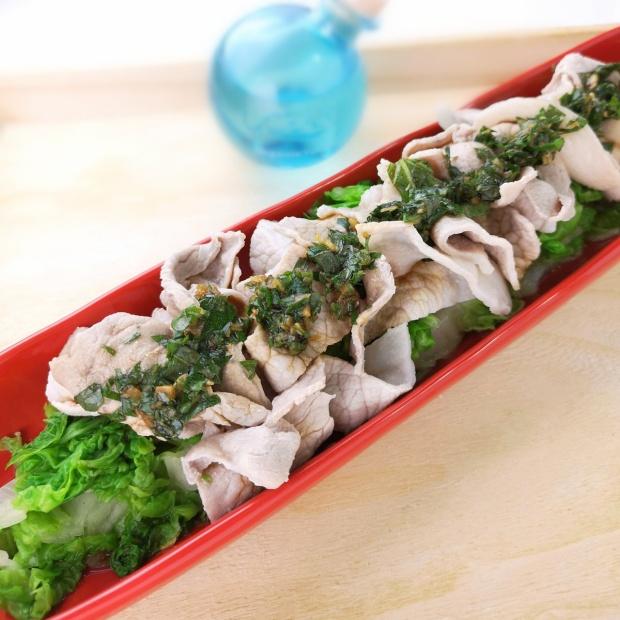 煮すぎずにしっとりと♪豚肉と白菜の冷しゃぶサラダ