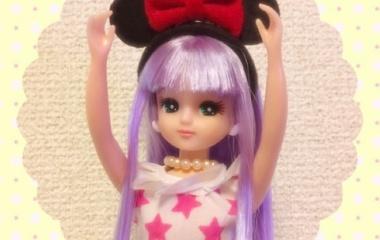 『リカちゃん用ミニーカチューシャ』の画像