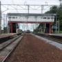 朝里駅の界隈。