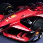 【画像】フェラーリ、未来的なF1コンセプトカーを発表