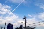 大雨のあとのヒコウキ雲がただただキレイだ!~逢合橋から眺める9月の青空~