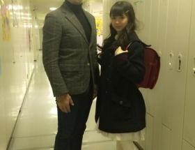 フレッシュレモン市川美織さん、入学式に参加する