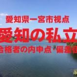 『2020愛知県私立高校の入試倍率(私立高等学校令和2年度志願状況一覧 より抜粋)』の画像