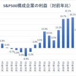 『【S&P500】第1四半期決算で3年ぶりの減益も、史上最高値を更新するか』の画像
