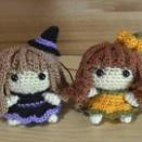 「ハロウィンの女の子(魔女・かぼちゃ)」の編み図