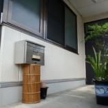 『玄関前に ポスト棚』の画像