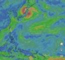 台風まだくる?南海上に発達した雲の塊