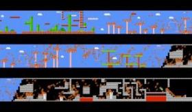【ゲーム】   974人が 同時に『スーパーマリオブラザーズ』をプレイしたら。  海外の反応