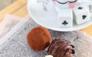 糖質ゼロのチョコで作るトリュフ